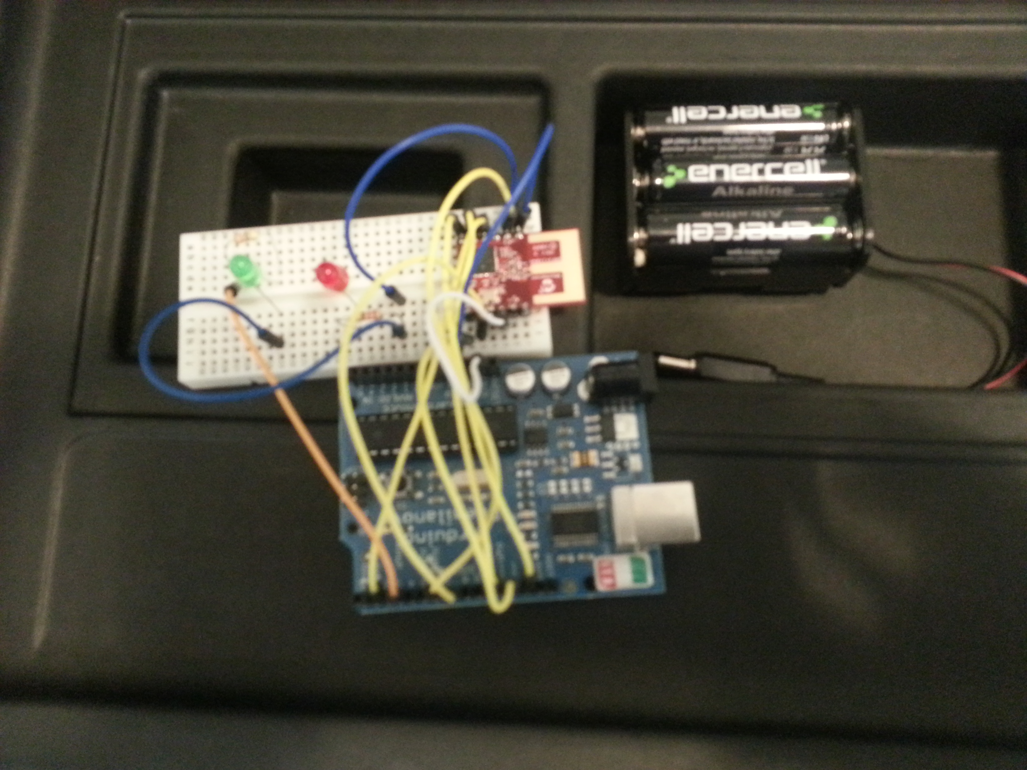 Gadgetnate arduino on a breadboard and using the